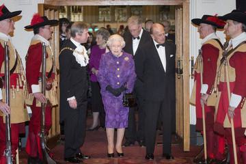 Jeffrey Mountevans The Queen and the Duke of Edinburgh Attend a Reception for the High Commissioners' Banquet