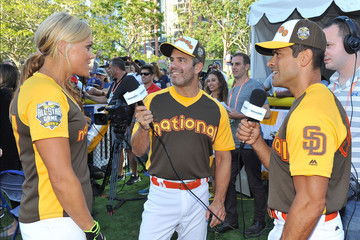 Jennie Finch Andy Cohen Hosts His SiriusXM Show From the All-Star Legends & Celebrity Softball Game
