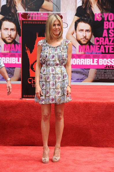Actress Jennifer Aniston is honored with a Hand and Footprint Ceremony outside Grauman's Chinese Theatre on July 7, 2011 in Los Angeles, California