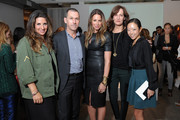 (l-r) Charlotte Blechman, Mark Lee, Jewelry Designer Jennifer Fisher, Daniella Vitale and Tomoko Ogura from Barney's at the Jennifer Fisher Spring 2013 Presentation during Mercedes-Benz Fashion Week at the Drive-In Studios on September 10, 2012 in New York City.