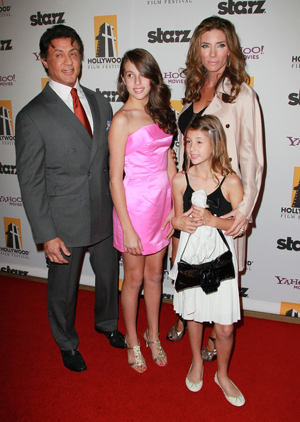 Photo of Sylvester Stallone & his  Daughter   Scarlet Rose Stallone