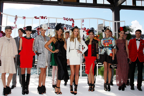 Myer A/W Racing Collection Preview [myer a/w racing collection preview,fashion,red,event,fashion design,footwear,tourism,model,dress,competition,runway,models,winter collection,laura dundovic,jennifer hawkins,preview,the bar,australia,myer autumn,wharf]