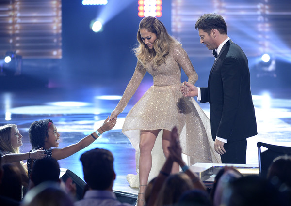 FOX's 'American Idol' Finale For The Farewell Season - Show [performance,entertainment,event,fashion,performing arts,public event,stage,leg,dress,music artist,jennifer lopez,harry connick jr.,actress,hollywood,dolby theatre,california,fox,l,american idol finale for the farewell season - show]