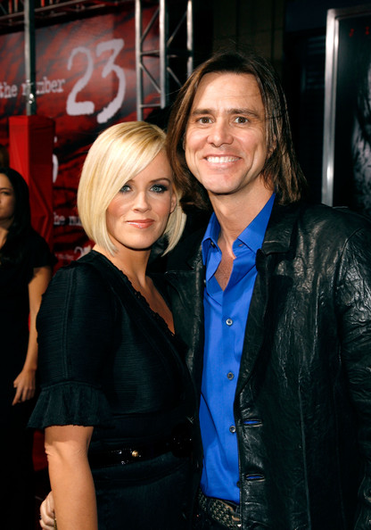 FILE PHOTOS: Jim Carrey Splits With Jenny McCarthy [file photos,the number 23,beauty,hairstyle,fashion,outerwear,smile,flooring,girl,event,long hair,product,jenny mccarthy,jim carrey,jim carrey splits,los angeles,california,the orpheum theater,premiere]
