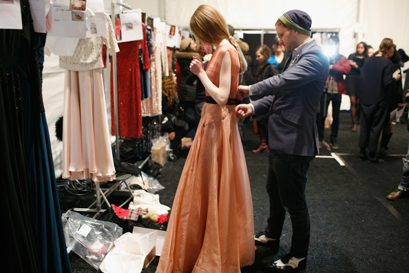 Jenny Packham - Backstage - Fall 2013 Mercedes-Benz Fashion Week