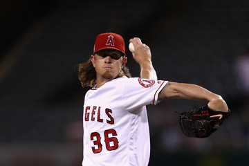 Jered Weaver Oakland Athletics v Los Angeles Angels of Anaheim