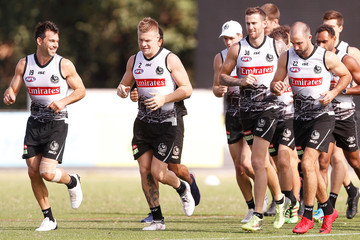Jeremy Howe Collingwood Magpies Training Session