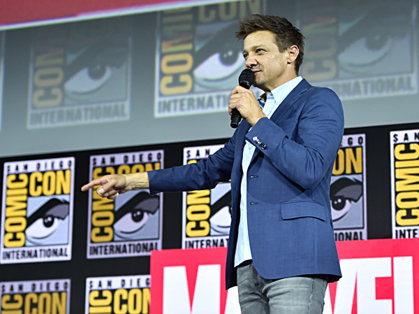 Marvel Studios Hall H Panel [event,talent show,spokesperson,jeremy renner,hawkeye,hall h,san diego,california,marvel studios hall h panel,marvel studios panel,san diego comic-con international]