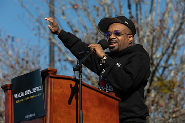 Jermaine Dupri Georgia Senate Candidates Ossoff And Warnock Hold Drive-In Rally In Leadup To Runoff Election