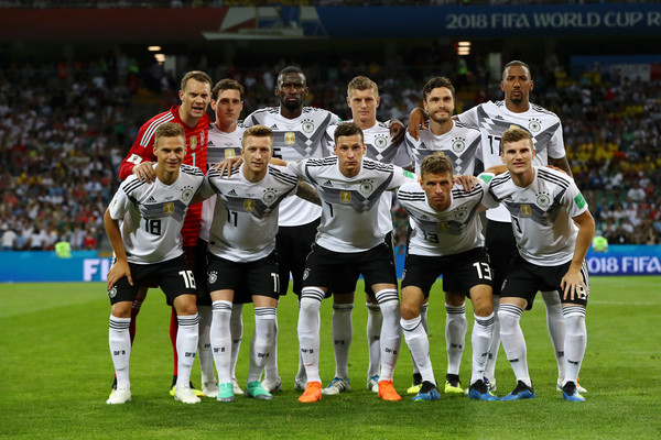Germany vs. Sweden: Group F - 2018 FIFA World Cup Russia [player,team,team sport,soccer player,sport venue,football player,championship,sports,ball game,tournament,germany,russia,sochi,sweden,fisht stadium,group,sweden: group f - 2018 fifa world cup,match,2018 fifa world cup]