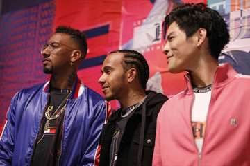 Jerome Boateng Tommy Hilfiger CREATE X UNITY Launch Event With Lewis Hamilton In Berlin