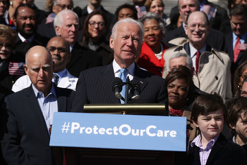 Jerry Brown Joe Biden Joins House Democrats at Event Marking 7-Year Anniversary of ACA