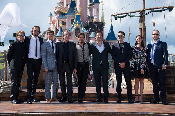 European Premiere of 'Pirates of the Caribbean: Dead Men Tell No Tales' [pirates of the caribbean,dead men tell no tales,social group,team,event,suit,crew,white-collar worker,tourism,formal wear,r,geoffrey rush,javier bardem,european,disneyland paris,premiere,european premiere,revenge]