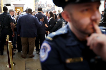 Jesse Jackson Reverend Jesse Jackson And William Barber Protest Within US Capitol During 'Poor People's Campaign' Day Of Action