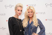 Ashlee Simpson and Jessica Simpson visit Macy's South Coast Plaza in support of the Jessica Simpson and Jessica Simpson Girls Collections on November 10, 2012 in Costa Mesa, California.