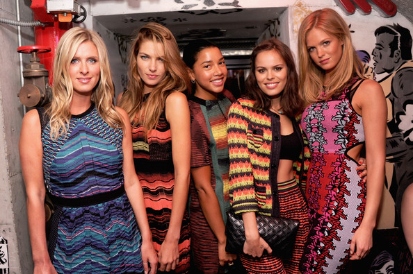M Missoni Is for Music Summer Event [social group,event,fashion,party,fun,bachelorette party,photography,dress,leisure,fashion design,nicky hilton,atlanta de cadenet taylor,erin heatherton,jessica hart,hannah bronfman,m missoni,l-r,new york city,the standard,music summer event]
