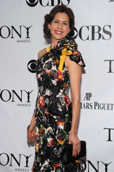 64th Annual Tony Awards - Arrivals [clothing,fashion model,dress,fashion,hairstyle,premiere,fashion design,cocktail dress,little black dress,carpet,arrivals,jessica hecht,tony awards,new york city,radio city music hall,64th annual tony awards]