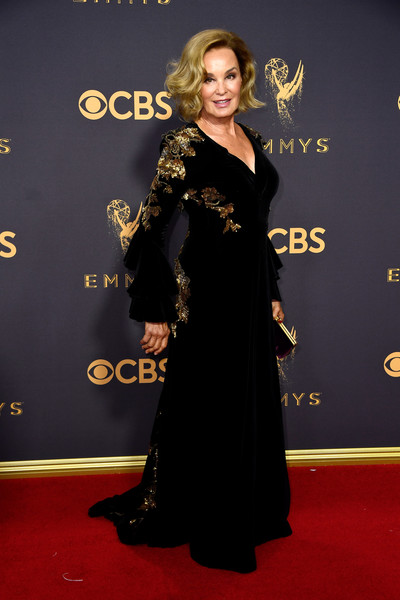 69th Annual Primetime Emmy Awards - Arrivals [red carpet,carpet,clothing,flooring,dress,premiere,fashion,shoulder,joint,event,arrivals,jessica lange,microsoft theater,los angeles,california,primetime emmy awards]