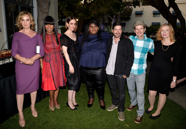"FYC Screening And Conversation With Fox's ""American Horror Story: Coven"" [american horror story: coven,social group,event,formal wear,james s. levine,actors,actors,gabourey sidebe,angela bassett,sarah paulson,l-r,fyc screening and conversation with fox,screening]"