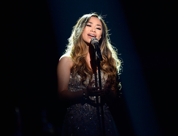 FOX's 'American Idol' Finale For The Farewell Season - Show [performance,hair,entertainment,music artist,singing,performing arts,singer,blond,event,stage,jessica sanchez,dolby theatre,california,hollywood,fox,american idol finale for the farewell season - show]