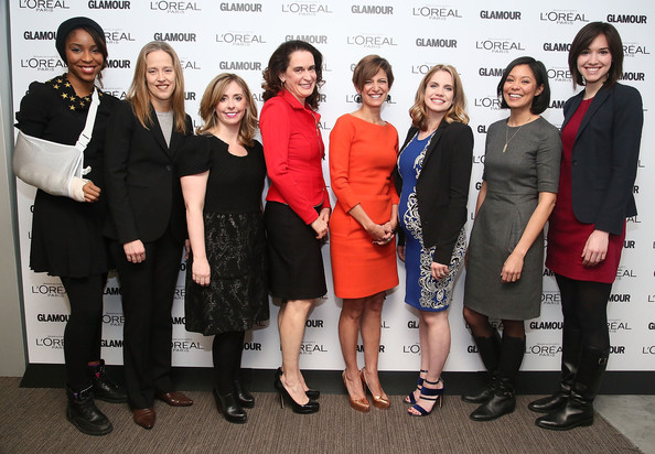 Glamour And L'Oreal Paris Celebrate Top Ten College Women [college women,jessica williams,wendy kopp,alex wagner,cindi leive,anna chlumsky,mora neilson,l-r,social group,event,employment,team,white-collar worker,job,glamour,loreal paris]