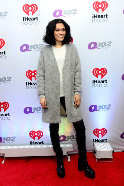 Backstage at Q102's Jingle Ball  [clothing,carpet,red carpet,magenta,fashion,footwear,flooring,outerwear,event,fashion design,jessie j,philadelphia,pennsylvania,wells fargo center,q102,jingle ball,jingle ball 2014]
