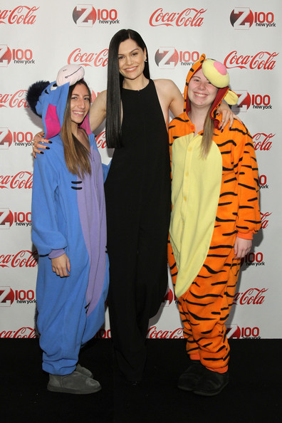 Backstage at the Z100 & Coca-Cola All Access Lounge  [orange,outerwear,fun,event,costume,carpet,jessie j,fans,all access lounge,new york city,hammerstein ballroom,z100,coca-cola,pre-show,jingle ball 2014]