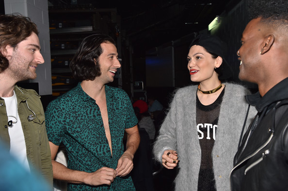 KISS 108's Jingle Ball 2014 - Backstage [event,adaptation,conversation,premiere,luke james,nasri,ben spivak,jessie j,l-r,td garden,boston,massachusetts,kiss 108,jingle ball 2014 - backstage]