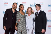 (L-R) Marco Perego, Zoe Saldana-Perego, Dr. Mary Kerr and Wyck Godfrey arrive at Jhpiego's Los Angeles Gala - Laughter Is The Best Medicine on April 29, 2019 in Beverly Hills, California.