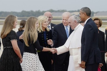 Jill Biden Pope Francis Arrives From Cuba For Visit To D.C., New York, And Philadelphia