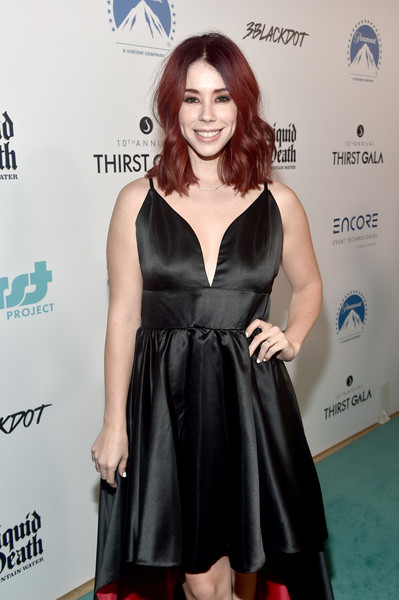 Thirst Project 10th Annual Thirst Gala - Arrivals [thirst project 10th annual thirst gala - arrivals,jillian rose reed,clothing,dress,cocktail dress,little black dress,carpet,red carpet,hairstyle,fashion,premiere,footwear,thirst project 10th annual thirst gala,beverly hills,california,the beverly hilton hotel]