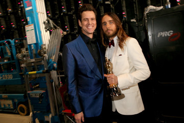 Jim Carrey Backstage at the 86th Annual Academy Awards