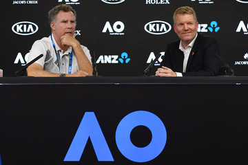 Jim Courier Off Court at the 2018 Australian Open