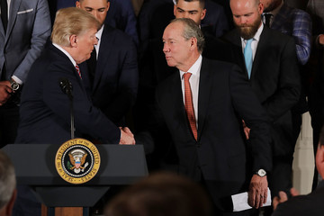 Jim Crane Donald Trump Welcomes World Series Champion Houston Astros To The White House