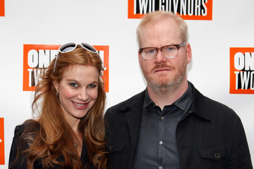 Jim Gaffigan with beautiful, sexy, cute, Wife Jeannie Noth