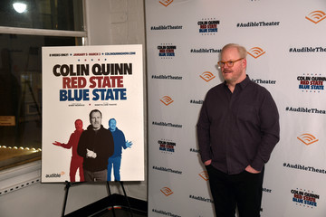 Jim Gaffigan Opening Night For Colin Quinn's 'Red State Blue State' At Audible's Minetta Lane Theatre In NYC