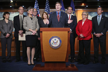 Jim Himes New Democratic Coalition Members Address Fiscal Cliff At News Conference