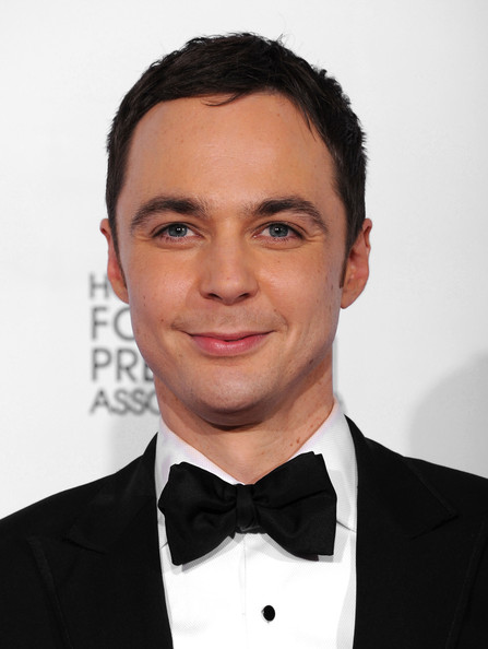Jim Parsons Actor Jim Parsons poses with his award for Best Actor in a    Jim Parsons