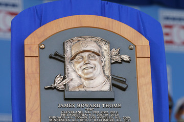 Jim Thome National Baseball Hall Of Fame Induction Ceremony