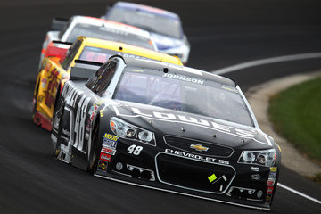 Jimmie Johnson NASCAR Sprint Cup Series Crown Royal Presents the Jeff Kyle 400 at the Brickyard