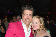 """Eric Peteren and Maureen McCormick attend the Broadway premiere of """"Escape to Margaritaville"""" the new musical featuring songs by Jimmy Buffett at the Marquis Theatre on March 15, 2018 in New York City."""