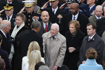 Jimmy Carter Donald Trump Is Sworn In As 45th President Of The United States