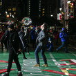 Jimmy Fallon Celebrity And Performance Groups Rehearse At Herald Square In Preparation For The 94th Annual Macy's Thanksgiving Day Parade®