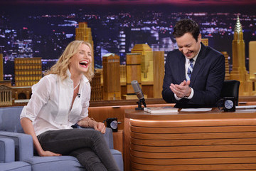 "Jimmy Fallon Cameron Diaz And Ralph Fiennes Visit ""The Tonight Show Starring Jimmy Fallon"""