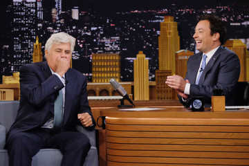 Jimmy Fallon Jay Leno Visits 'The Tonight Show Starring Jimmy Fallon'