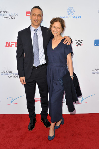 5th Annual Sports Humanitarian Awards Presented By ESPN [red carpet,carpet,suit,formal wear,event,premiere,tuxedo,flooring,pantsuit,white-collar worker,jimmy pitaro,jean louisa kelly,california,los angeles,the novo theater,l.a. live,espn,annual sports humanitarian awards]
