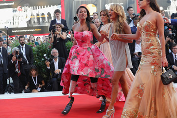 Jo Squillo 'First Man' Premiere, Opening Ceremony And Lifetime Achievement Award To Vanessa Redgrave Red Carpet Arrivals - 75th Venice Film Festival