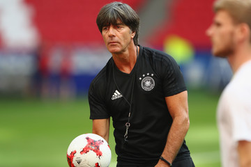 Joachim Loew Germany Training & Press Conference - FIFA Confederations Cup Russia 2017