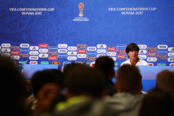 Joachim Low Germany Training & Press Conference - FIFA Confederations Cup Russia 2017