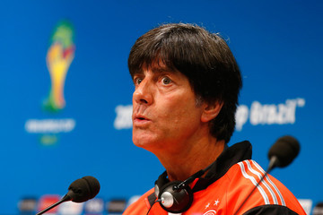 Joachim Low Germany Training and Press Conference: 2014 FIFA World Cup Brazil Final